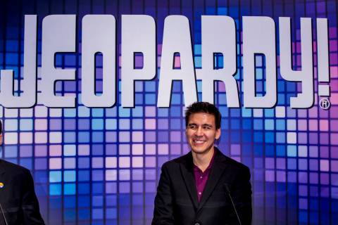 """Jeopardy!"" champion James Holzhauer is shown during the Global Gaming Expo 2019 at the Sands E ..."