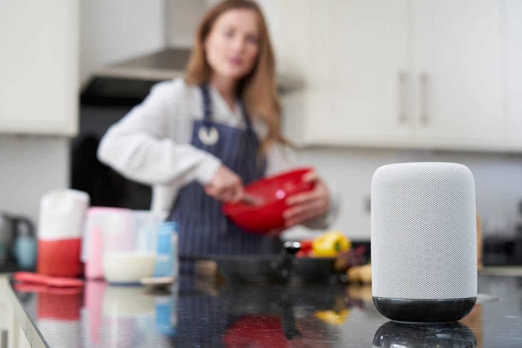 Cooking is easy with smart appliances and speakers. (Getty Images)