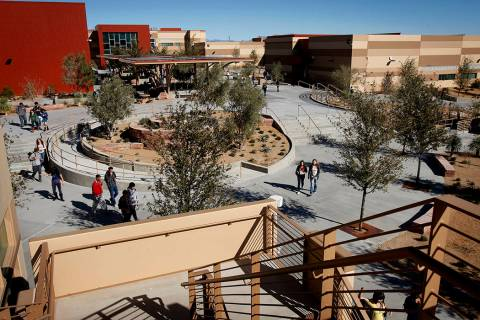 West Career & Technical Academy opened in 2010. (Las Vegas Review-Journal file photo)