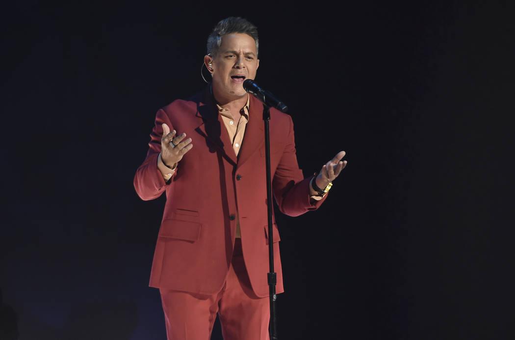 "Alejandro Sanz performs ""Mi Persona Favorita"" at the 20th Latin Grammy Awards on Thur ..."