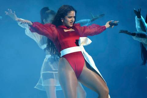 Rosalia performs a medley at the 20th Latin Grammy Awards on Thursday, Nov. 14, 2019, at the MG ...