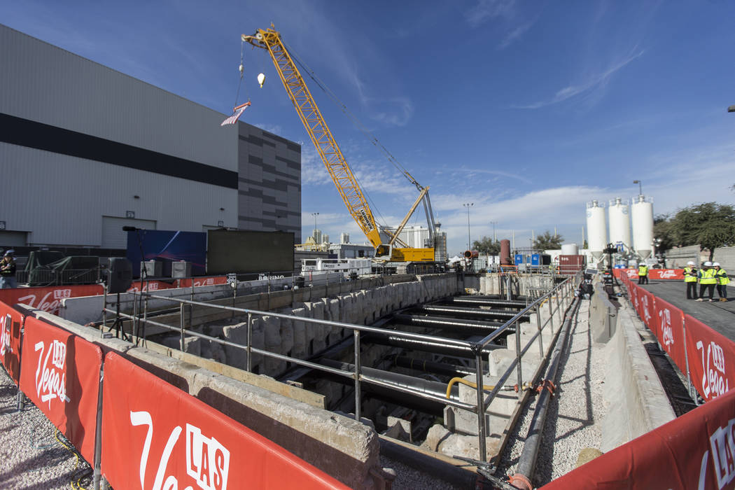The future location of an underground people-mover station at the Las Vegas Convention Center o ...