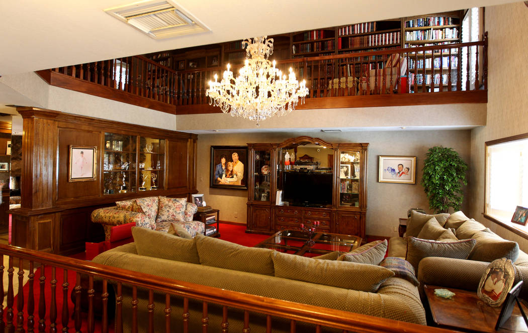 A living room at Jerry Lewis' family home is pictured in March 2018. The two-story home was loc ...