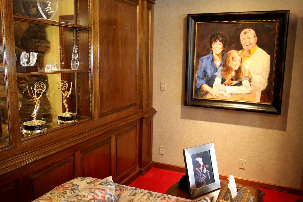 Family keepsakes, and a few Emmy awards, on display in Jerry Lewis' home March 29, 2018. (Las ...