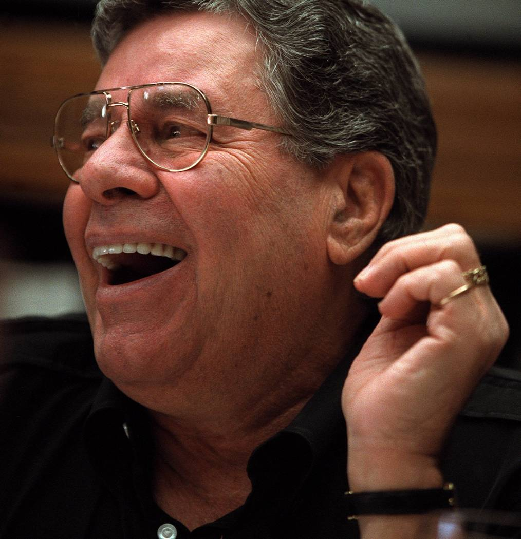 Jerry Lewis laughs during an interview at his home on Jan. 4, 2000. (Las Vegas Review-Journal f ...
