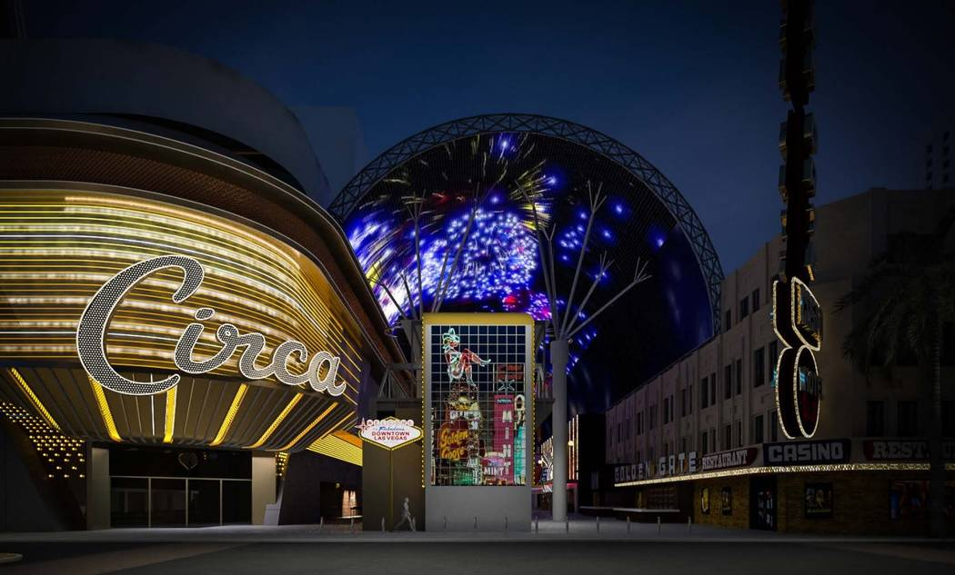 A rendering of the Fremont Street's LED sign from Steelman Partners, the project's builders. (S ...