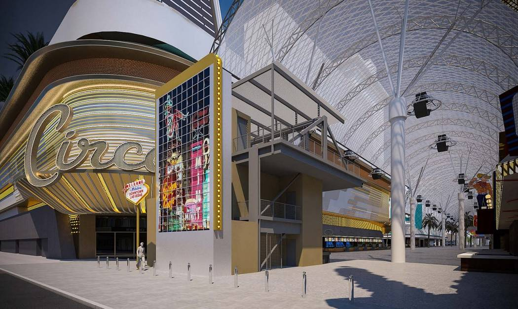 A rendering of the Fremont Street's LED sign. (Fremont Street Experience)