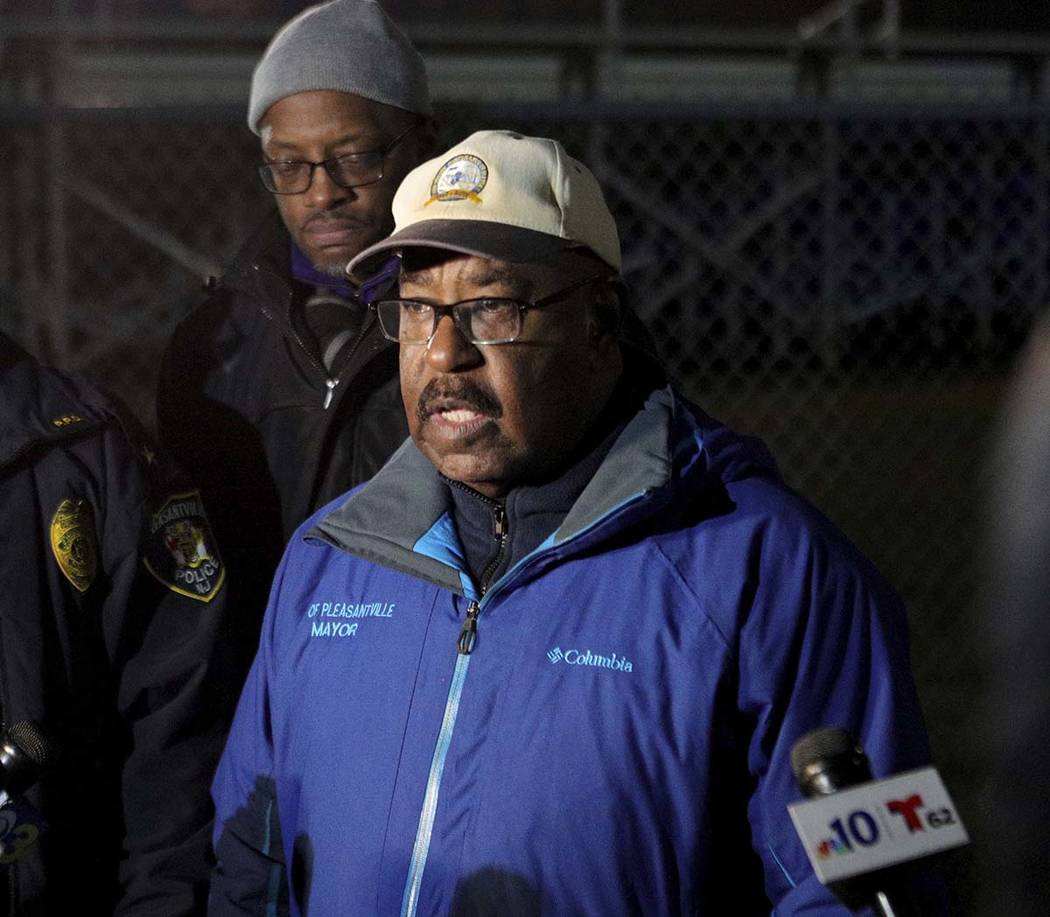 Pleasantville Mayor Jesse L. Tweedle Sr. holds a news conference after a shooting during a foot ...