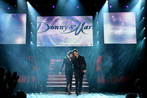 Donny & Marie Osmond during their final performance at Flamingo Las Vegas on November 16, 2019 ...