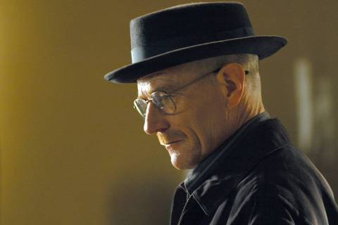 This image released by AMC shows Walter White, played by Bryan Cranston, wearing a Bollman 1940 ...