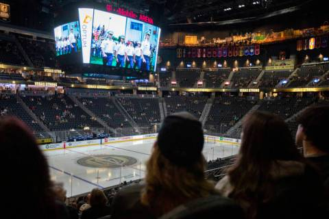 "The documentary ""Valiant,"" about the Golden Knights' first season, screens on the sco ..."