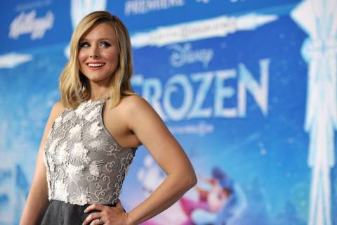 "Kristen Bell attends the world premiere of ""Frozen"", on Tuesday, Nov. 19, 2013, in Lo ..."