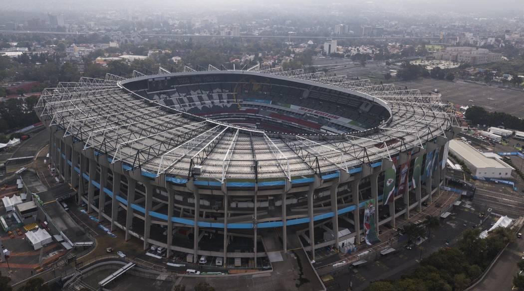 An aerial view of the Azteca Stadium in Mexico City, Saturday, Nov. 16, 2019, where the Kansas ...