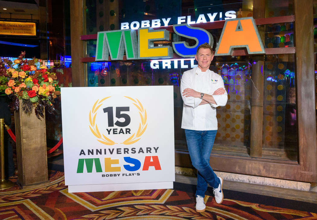 Bobby Flay was in town over the weekend to celebrate the 15th anniversary of Mesa Grill, his re ...
