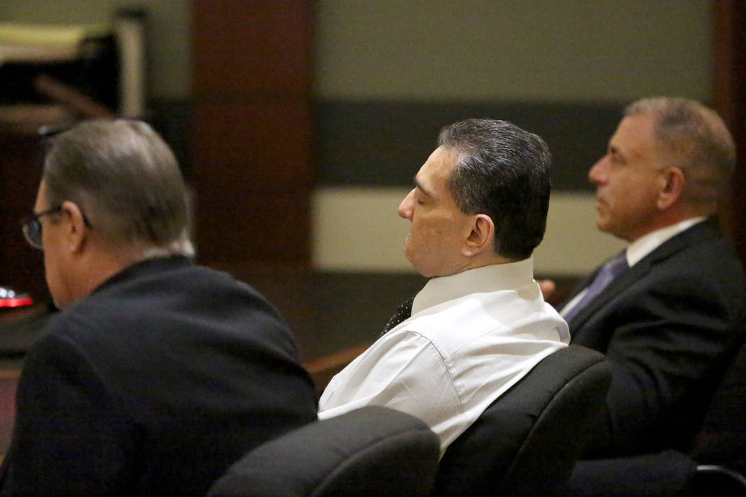 Manuel Mata III, center, listens as a jury's verdict finds him of guilty on Monday, November 18 ...