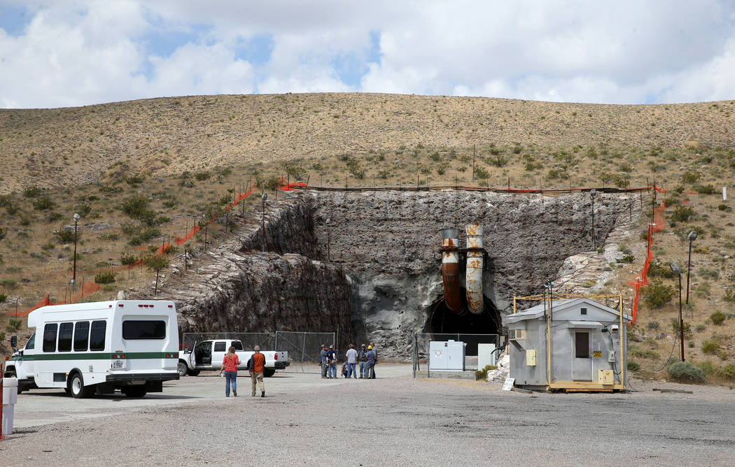 The south portal to a five mile tunnel in Yucca Mountain 90 miles northwest of Las Vegas during ...
