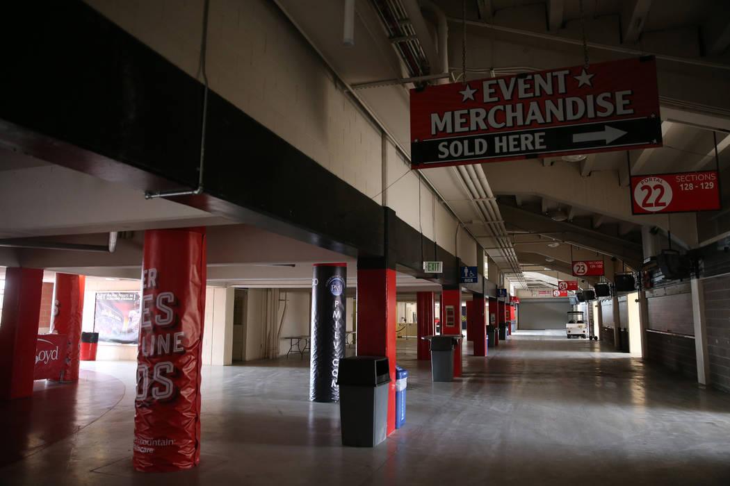 The concourse at Sam Boyd Stadium in Las Vegas, Thursday, Nov. 21, 2019. (Erik Verduzco/Las Veg ...