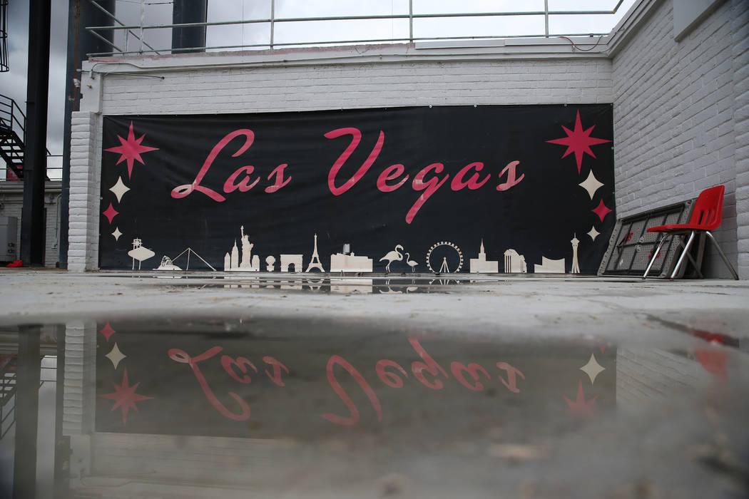 A sign outside of the player locker room at Sam Boyd Stadium in Las Vegas, Thursday, Nov. 21, 2 ...
