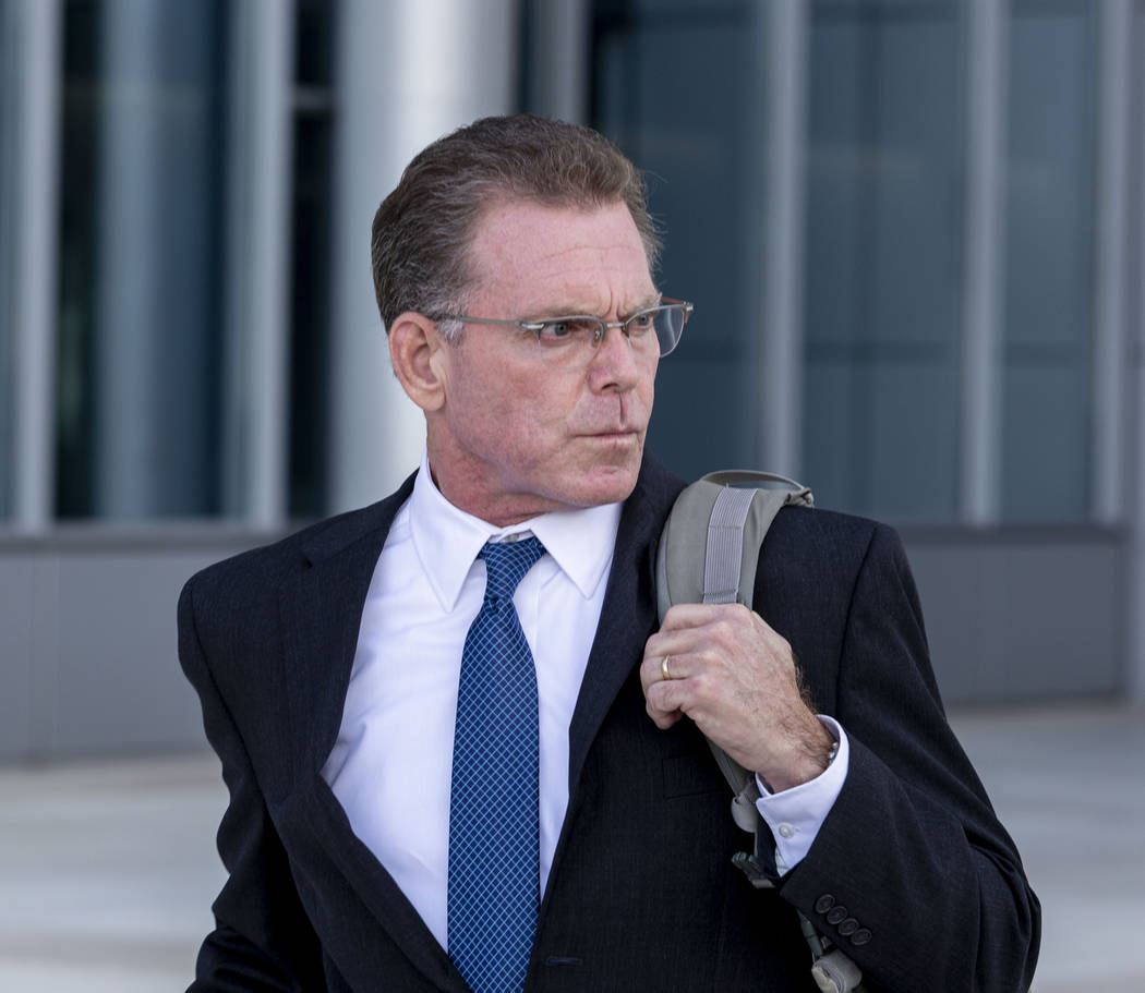 Douglas Haig leaves the Lloyd George Federal Courthouse after pleading guilty Tuesday Nov. 19, ...