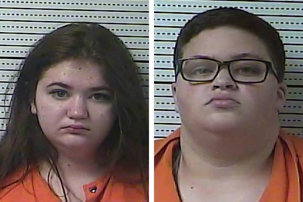 Jaimee Pack, left, and Isabelle Mason (Boyle County Detention Center via AP)