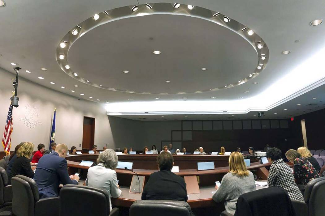 In this Oct. 10, 2019, photo, the Connecticut Behavioral Health Partnership Oversight Council m ...