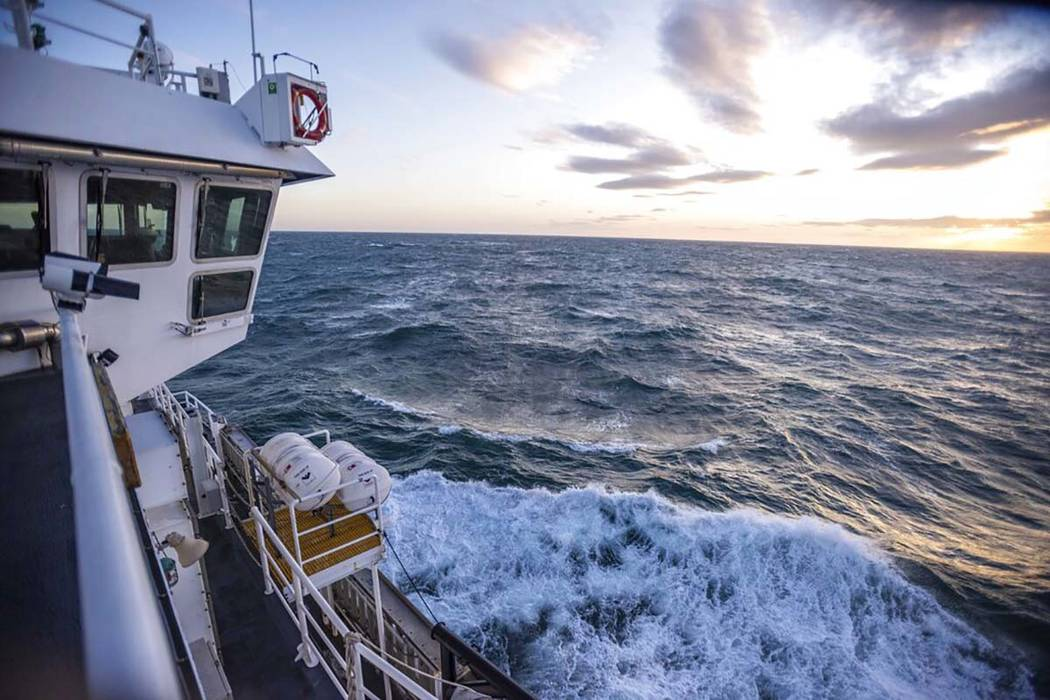 This Nov. 8, 2019, photo provided by John Guillote shows the Chukchi Sea from the top deck of t ...