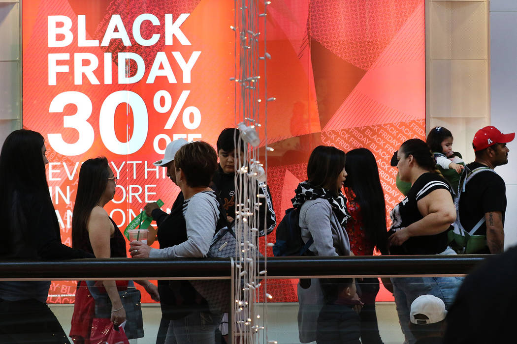 Black Friday sale shoppers arrive at the Galleria at Sunset mall on Friday, Nov. 23, 2018. (Biz ...