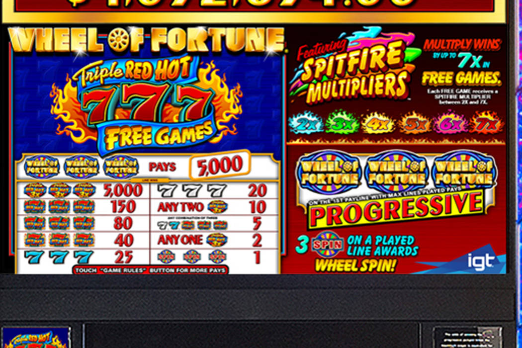 (Wheel of Fortune Triple Red Hot 7 via International Game Technology)