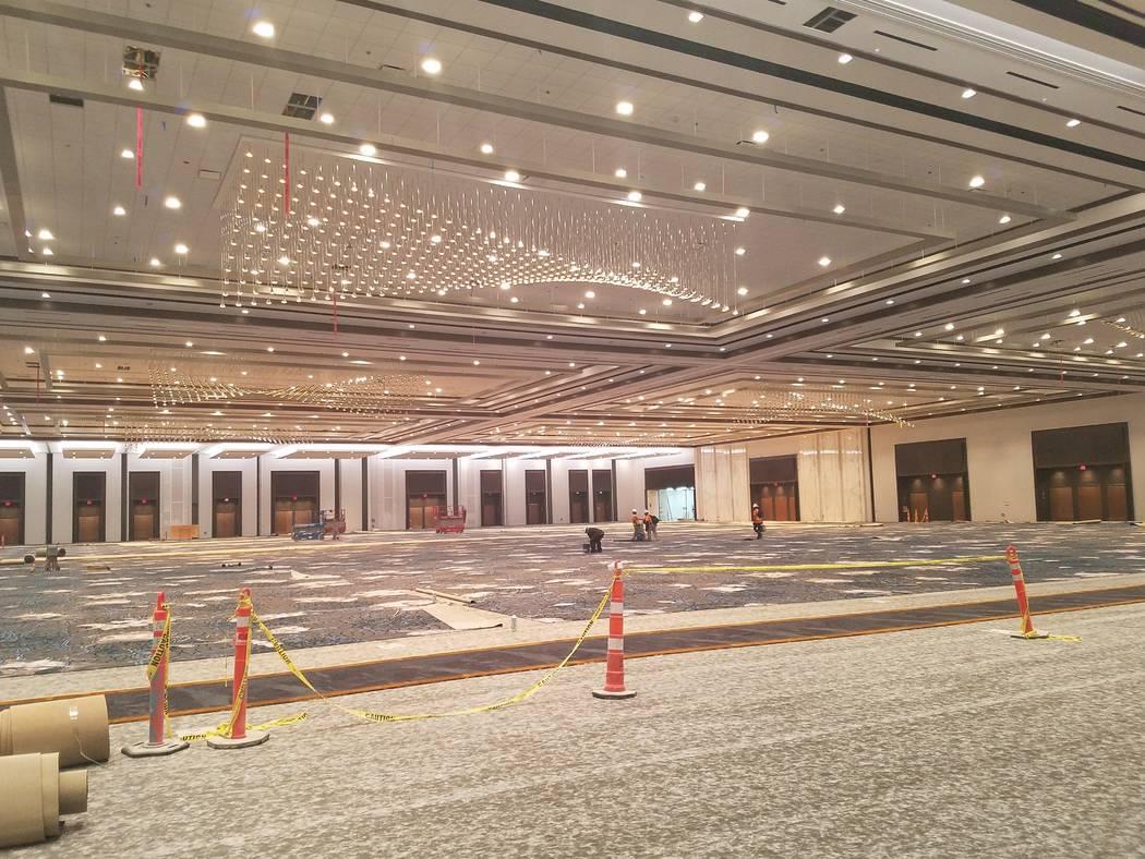 The massive winter-themed pillarless ballroom at Caesars Forum, Monday, Nov. 18, 2019. (Richard ...