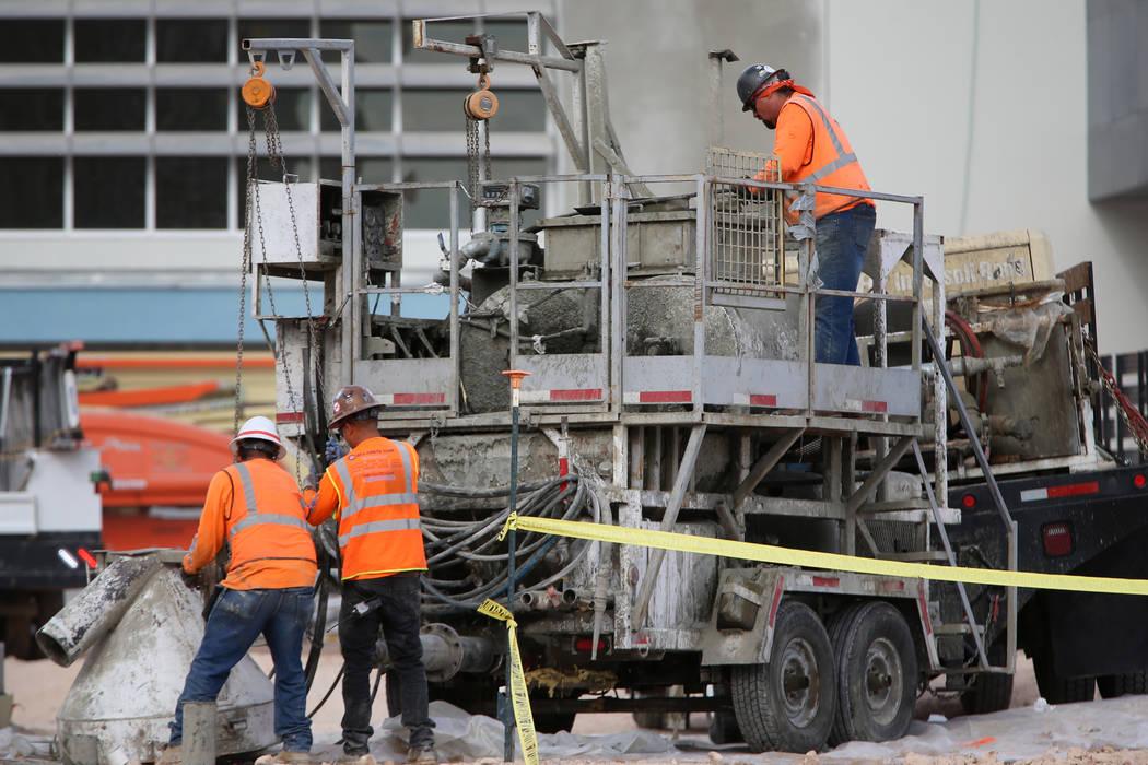 The construction site of the Caesars Forum in Las Vegas, Tuesday, Nov. 19, 2019. (Erik Verduzco ...