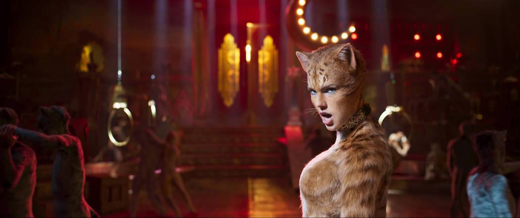 Taylor Swift as Bombalurina in Cats, co-written and directed by Tom Hooper. (Universal Pictures)