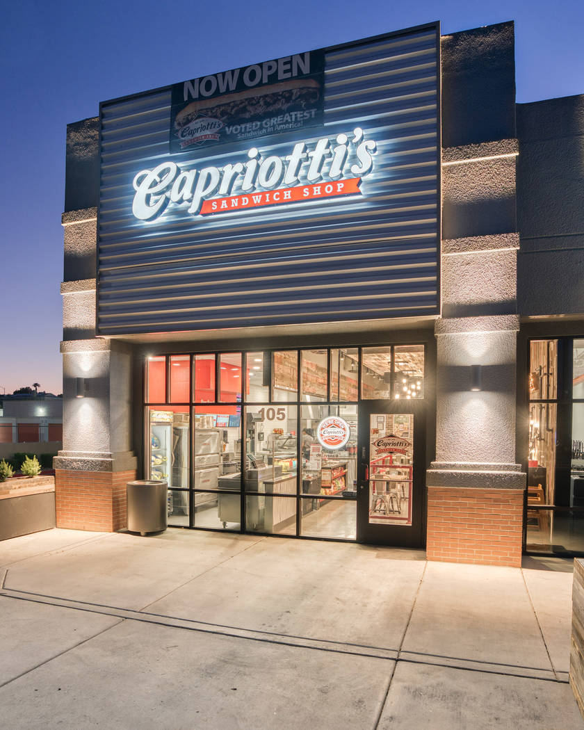The exterior of the new Capriotti's at Lake Mead and Jones boulevards. (Capriotti's)