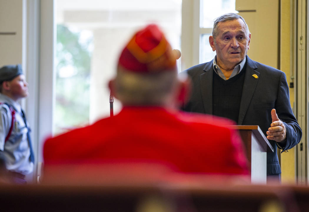 "Retired Marine Lt. Gen. Emil ""Buck"" Bedard gives a keynote address during the third M ..."