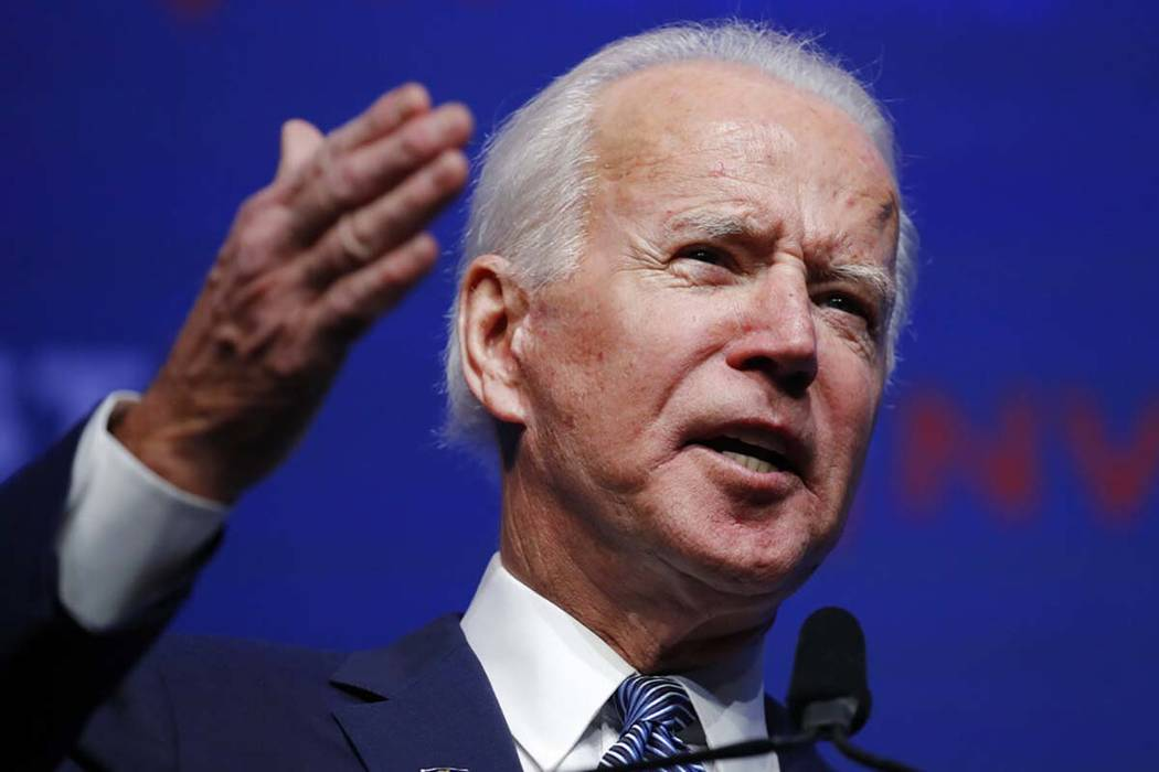Former Vice President and Democratic presidential candidate Joe Biden speaks during a fundraise ...