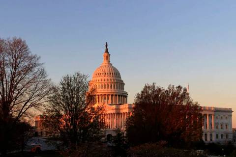 In an April 5, 2017, file photo, the Capitol is seen at sunrise in Washington. At a time when ...