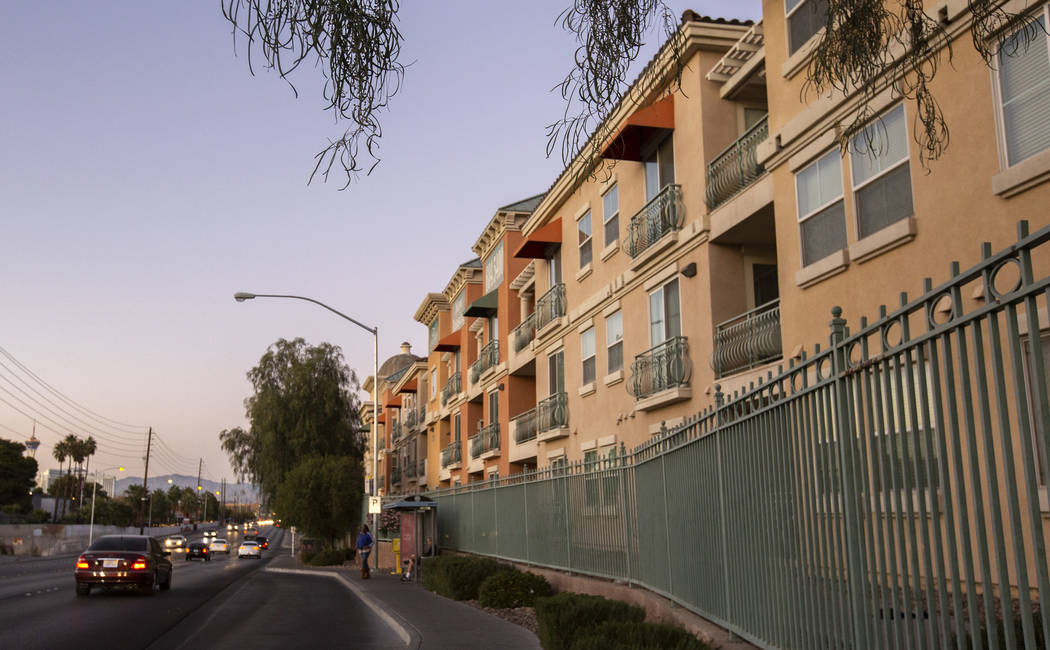 The Las Vegas Grand apartments on Monday, Nov. 18, 2019, in Las Vegas. (Ellen Schmidt/Las Vegas ...