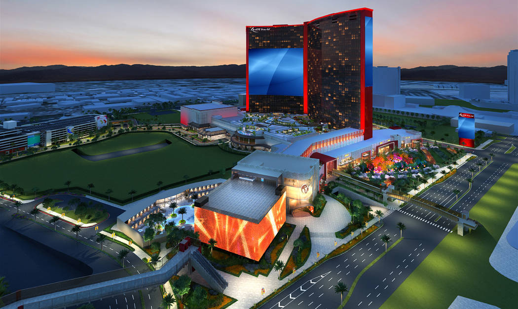A rendering of Resorts World Las Vegas shows the new design of the $4.3 billion megaresort due ...