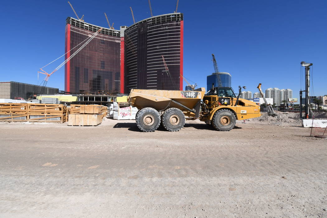Construction continues on Resorts World Las Vegas. (Courtesy Resorts World Las Vegas)