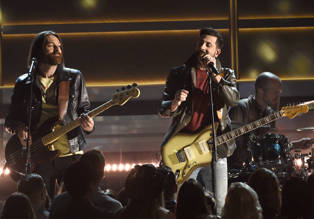 """Geoff Sprung, left, and Matthew Ramsey, of Old Dominion, perform """"No Such Thing As A Broke ..."""