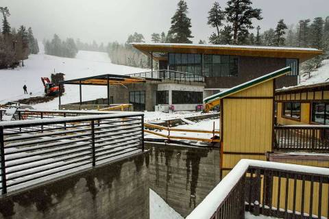 Construction continues on the new 10,000-square-foot Hillside Lodge at the Lee Canyon ski resor ...