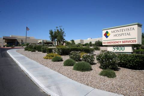 Montevista Hospital in Las Vegas Friday, Aug. 9, 2019. (K.M. Cannon/Las Vegas Review-Journal) @ ...