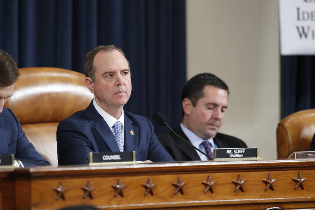 House Intelligence Committee Chairman Adam Schiff, D-Calif., and Rep. Devin Nunes, R-Calif, the ...
