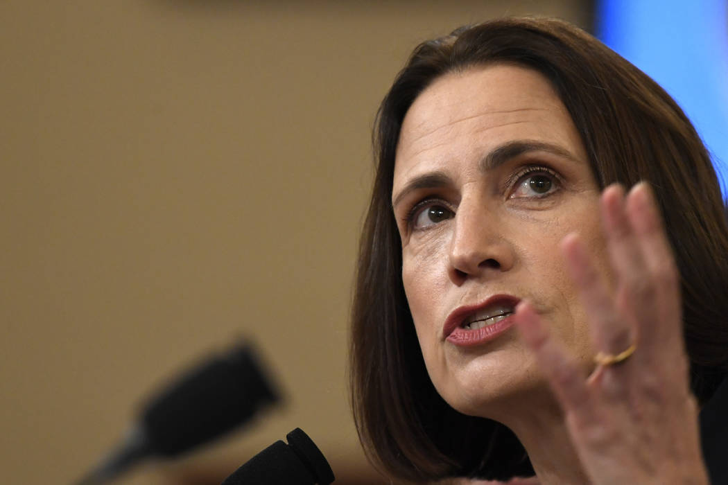 Former White House national security aide Fiona Hill, testifies before the House Intelligence C ...