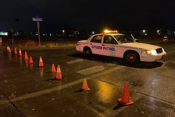 North Las Vegas police were investigating a shooting Wednesday, Nov. 20, 2019, at an apartment ...