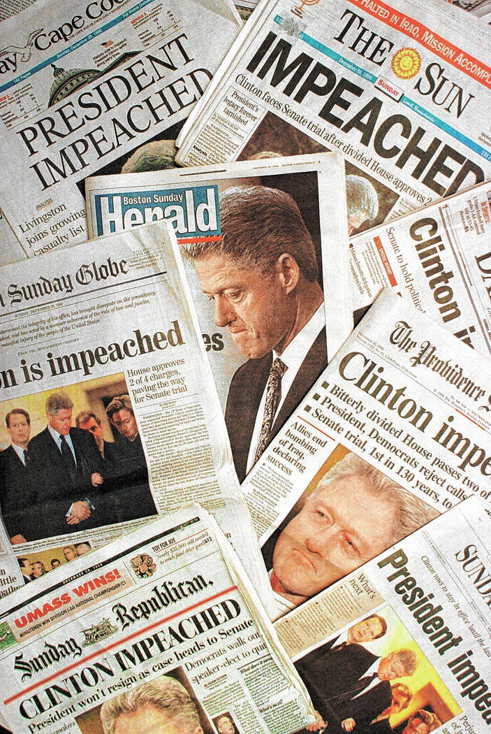 Image result for impeachment of president bill clinton recommended dec 15, 1998