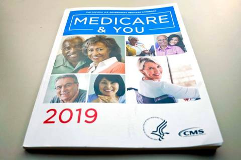 In a Nov. 8, 2018, file photo, the U.S. Medicare Handbook is photographed in Washington. Medic ...
