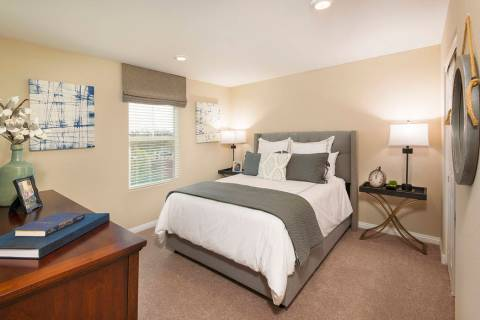 The Griffin town home offers dual master suites. (Mark Skalny Beazer Homes)