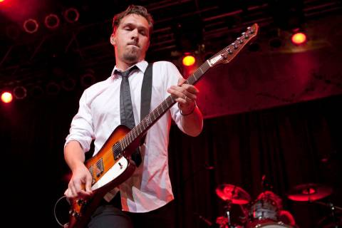 Isaac Hanson of Hanson performs at the House of Blues on November 11, 2009 in Anaheim, Californ ...