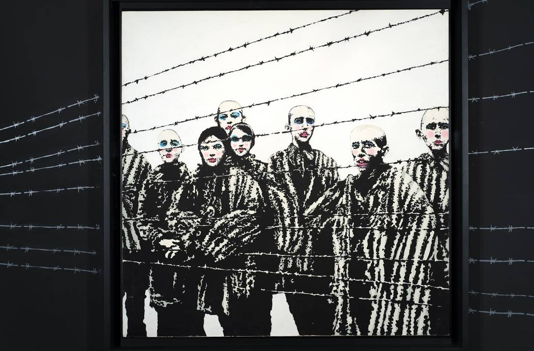 """""""Holocaust Lipstick"""" is one of the Bansky works in the exhibit. (Genius or Vandal: Banksy Exhib ..."""