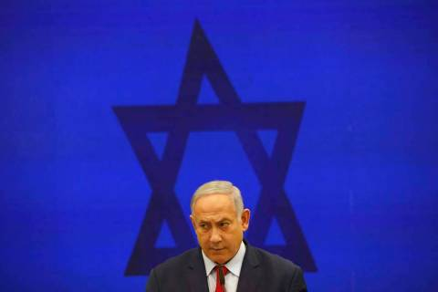 In a Sept. 10, 2019, file photo, Israeli Prime Minister Benjamin Netanyahu, speaks during a pre ...